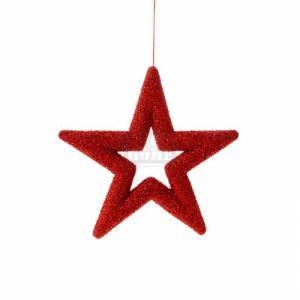 Коледна декорация звезда Inart 48 см