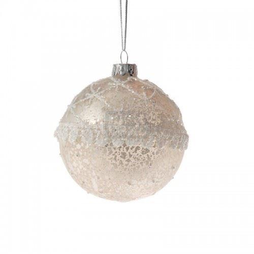 Декорация стъклени топки 6 броя Inart 8 см