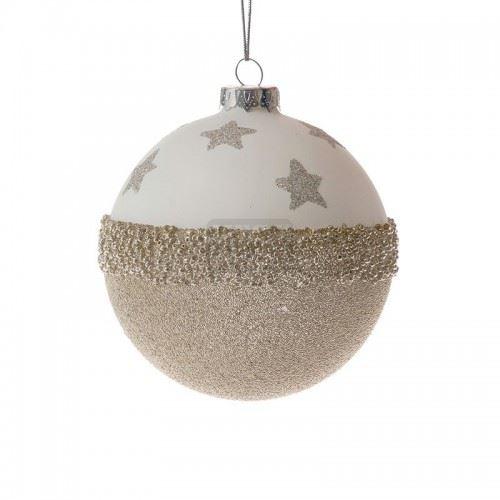 Декорация стъклени топки с брокат 4 броя Inart 10 см