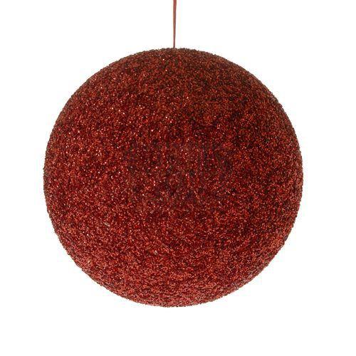 Топка декор червена 30 см
