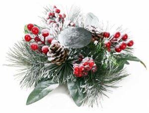 Коледен свещник с шишарки Inart 34 х 10 см