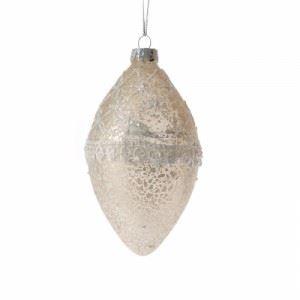 Стъклени играчки за елха 4 броя Inart 7 х 13 см