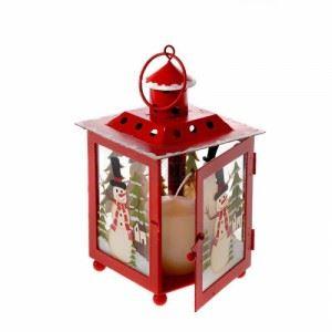 Коледен фенер Inart 10 х 10 х 17 см