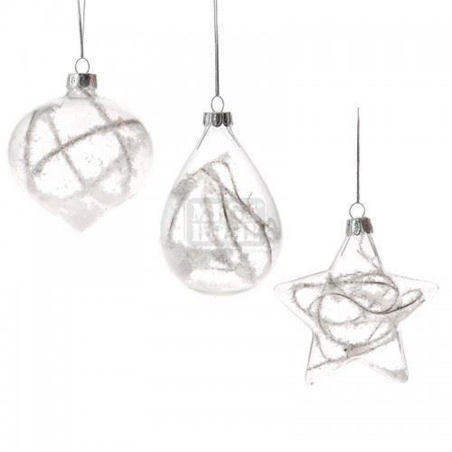 Декорация стъклени топки 3 броя Inart