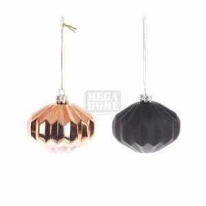 Комплект 12 броя стъклени топки за елха Inart D 8 см