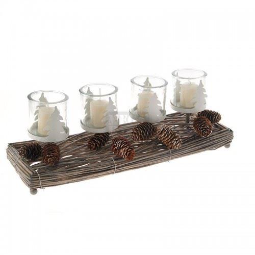 Свещник за 4 свещи Inart 48 х 17 х 17 см