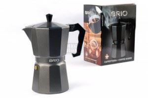 Алуминиева кафеварка за 6 кафета Brio графит