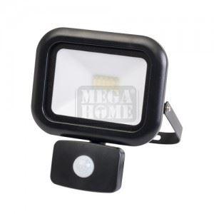 LED прожектор с датчик за движение Ultralux 20 W 4000K 220V IP44