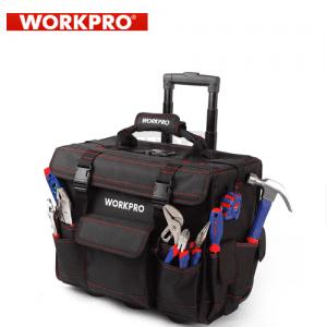 Комплект инструменти в чанта на колелца 86 части Workpro