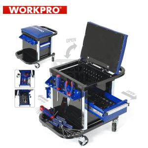 Сервизен стол - количка с инструменти 136 части Workpro