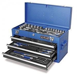 Комплект инструменти Erba 116 части метален куфар с 3 чекмеджета