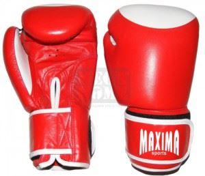 Боксови ръкавици Maxima естествена кожа