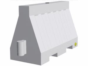 Пътна бариера Profis 1100 х 600 х 400 мм с изпускателен отвор