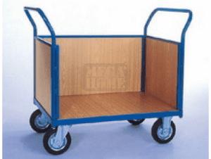 Платформена количка със стени от талашит Profis модел 4