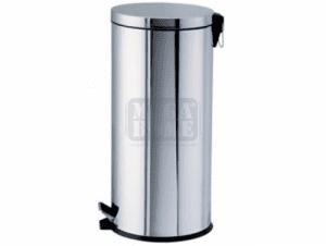 Метален кош с педал Profis 30 л огледално покритие