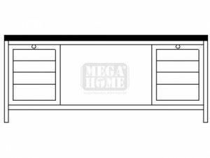 Монтажно бюро с чекмеджета - 2 Profis 1500 х 700 х 855 мм