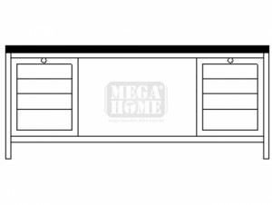 Монтажно бюро с чекмеджета - 2 Profis 2000 х 700 х 855 мм