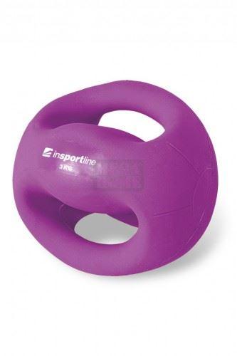 Медицинска топка с ръкохватки inSPORTline Grab Me 3 кг