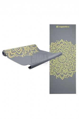 Постелка за йога inSPORTline Spirit 172 x 61 см сива
