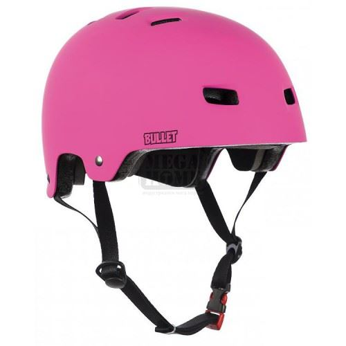 Kаска за ролери и скейтборд Bullet Deluxe Junior Pink