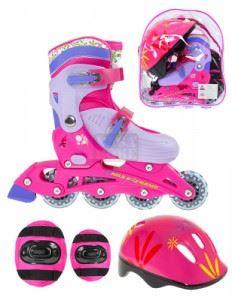 Детски комплект ролери Nils Extreme NJ082 Pink