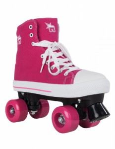 Ролкови кънки Rookie Canvas High Pink