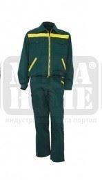 Летен работен комплект Viking BILI 100 % памук тъмно зелен