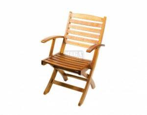 Градински сгъваем дървен стол DeHome