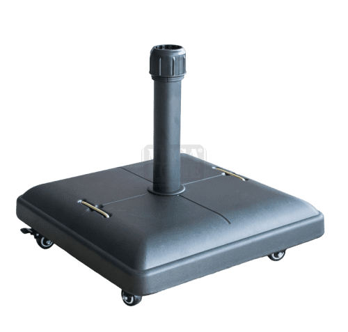 Стойка за чадър 37 кг с колела черна TH37-WW-B