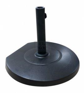 Стойка за чадър с колелца 25 кг кръг черна QTH25-B