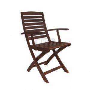 Градински дървен стол Спот с подлакътници