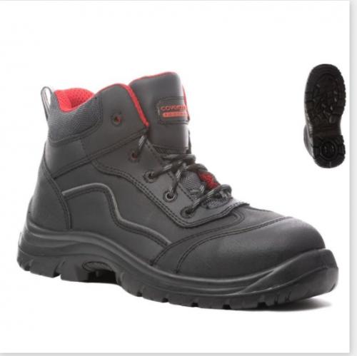 Предпазни обувки от кожа Coverguard, размер 44, черен цвят