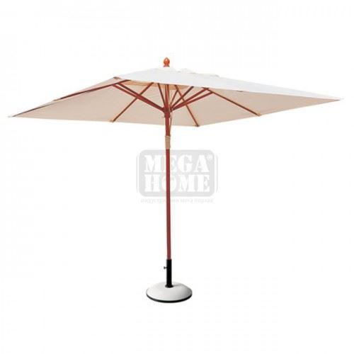 Дървен чадър Солейл 2 х 2 м