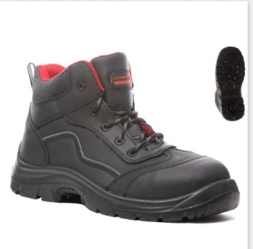 Предпазни обувки от кожа Coverguard, размер 42, черен цвят