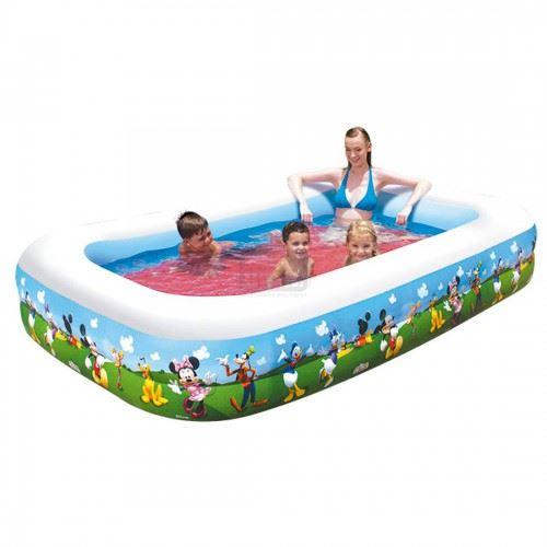 Надуваем басейн BESTWAY Mickey Mouse 2.62 м х 1.75 м х 51 см