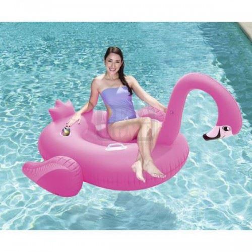 Надуваем дюшек Bestway Фламинго 175 х 173 см