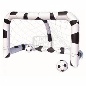 Надуваема футболна врата с две топки Bestway 213 х 122 х 137 см