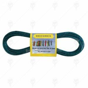 Въже за простор стоманено PVC 2 мм 10 м 10 бр Decorex