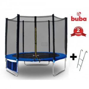 Детски батут 244 см с мрежа и стълба Buba 8FT