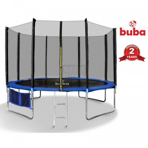 Детски батут 366 см с мрежа и стълба Buba 12FT