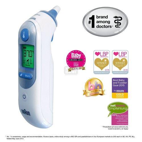 Инфрачервен термометър за ухо Braun IRT6520