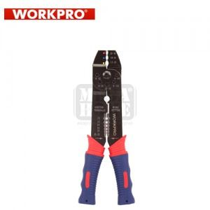 Клещи за кабелни обувки и оголване на кабели Workpro