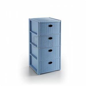 Шкаф Elegance с 4 чекмеджета 40 x 40 x h 80 см Син