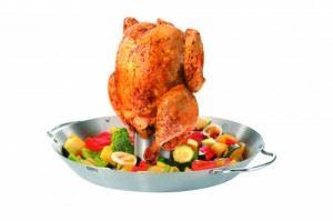 Сет прибор за печене на пиле и уок за зеленчуци Gefu