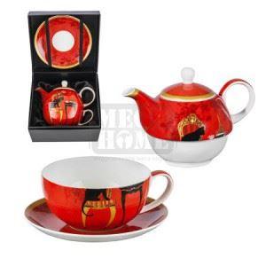 Комплект чаша и чайник Lancaster Котки