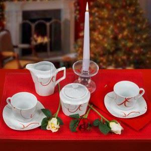 Сет за кафе Lancaster Red Line