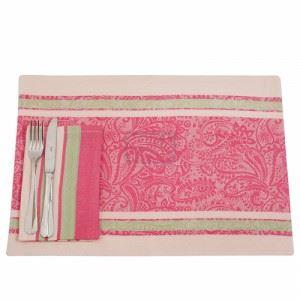 Комплект подложки за маса розово 12 части