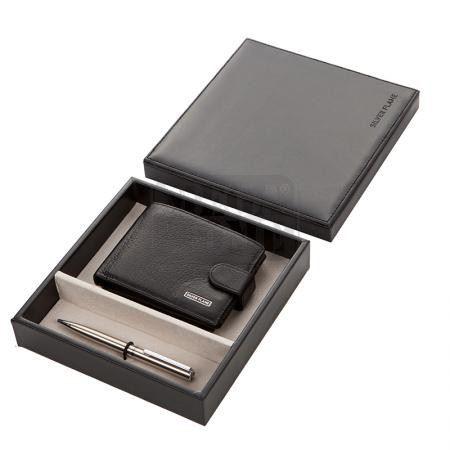 Комплект химикал и мъжки портфейл SILVER FLAME SFS-009