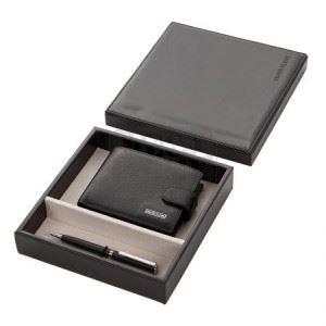 Комплект мъжки портфейл и химикал SILVER FLAME SFS-011