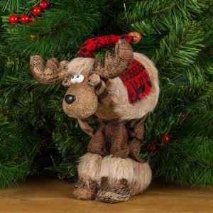 Декоративна фигура Коледен елен 28 см